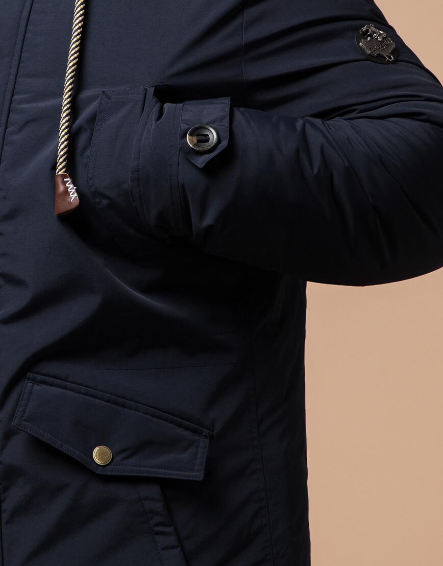 Мужская парка синяя на зиму модель 45950 оптом фото 5
