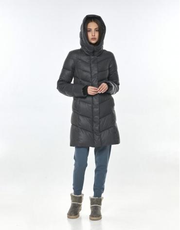 Комфортная куртка Vivacana серая женская 7821/21 фото 1