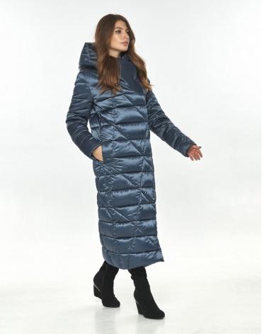 Женская синяя куртка Ajento зимняя брендовая 23795 фото 1
