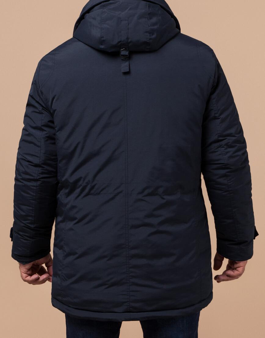 Мужская парка синяя на зиму модель 45950 оптом фото 3