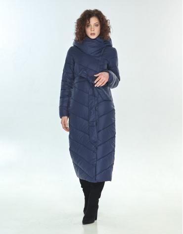 Длинная синяя куртка большого размера Moc женская зимняя M6471 фото 1