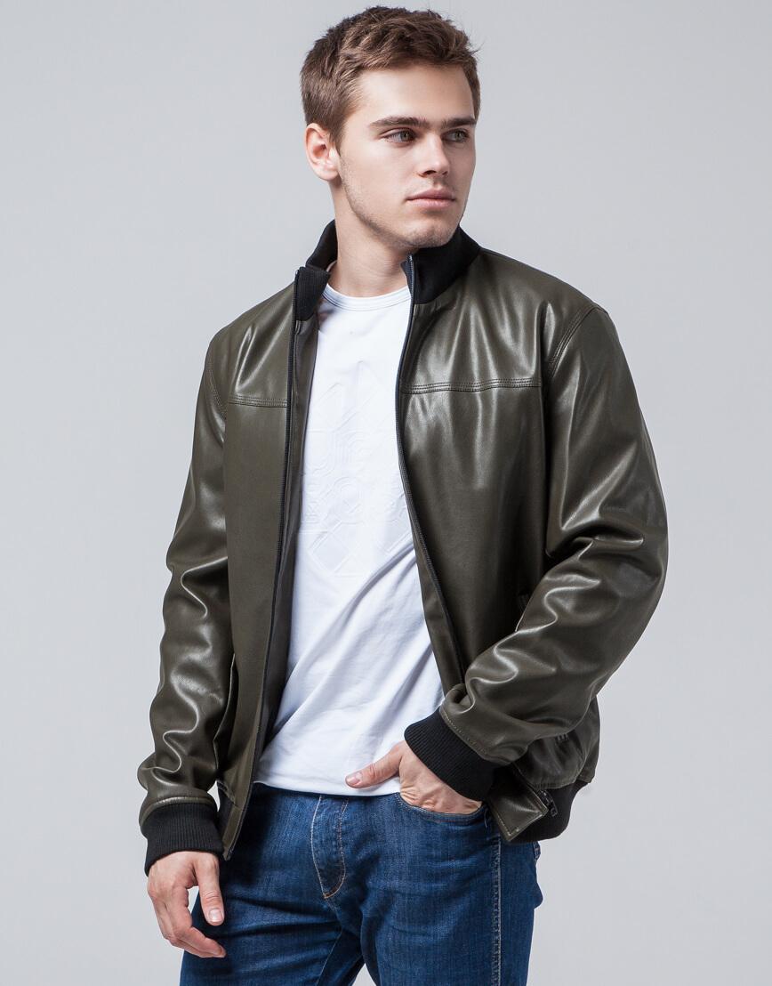 Короткая куртка молодежная цвет хаки модель 2970 фото 3