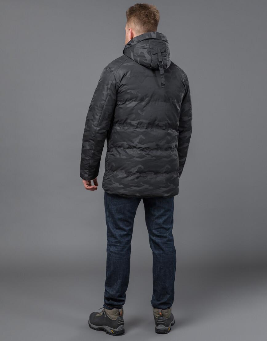 Дизайнерская куртка зимняя черная модель 59910 фото 4