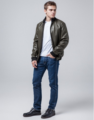 Короткая куртка молодежная цвет хаки модель 2970 фото 1