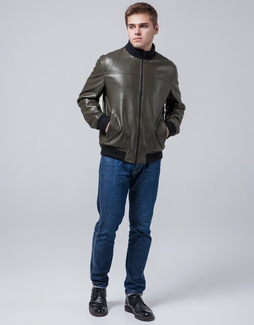 Короткая куртка молодежная цвет хаки модель 2970 фото 2