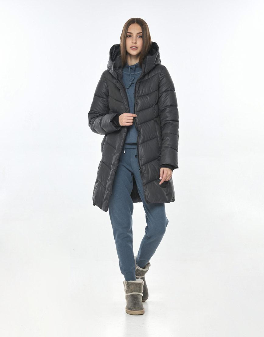 Комфортная куртка Vivacana серая женская 7821/21 фото 2
