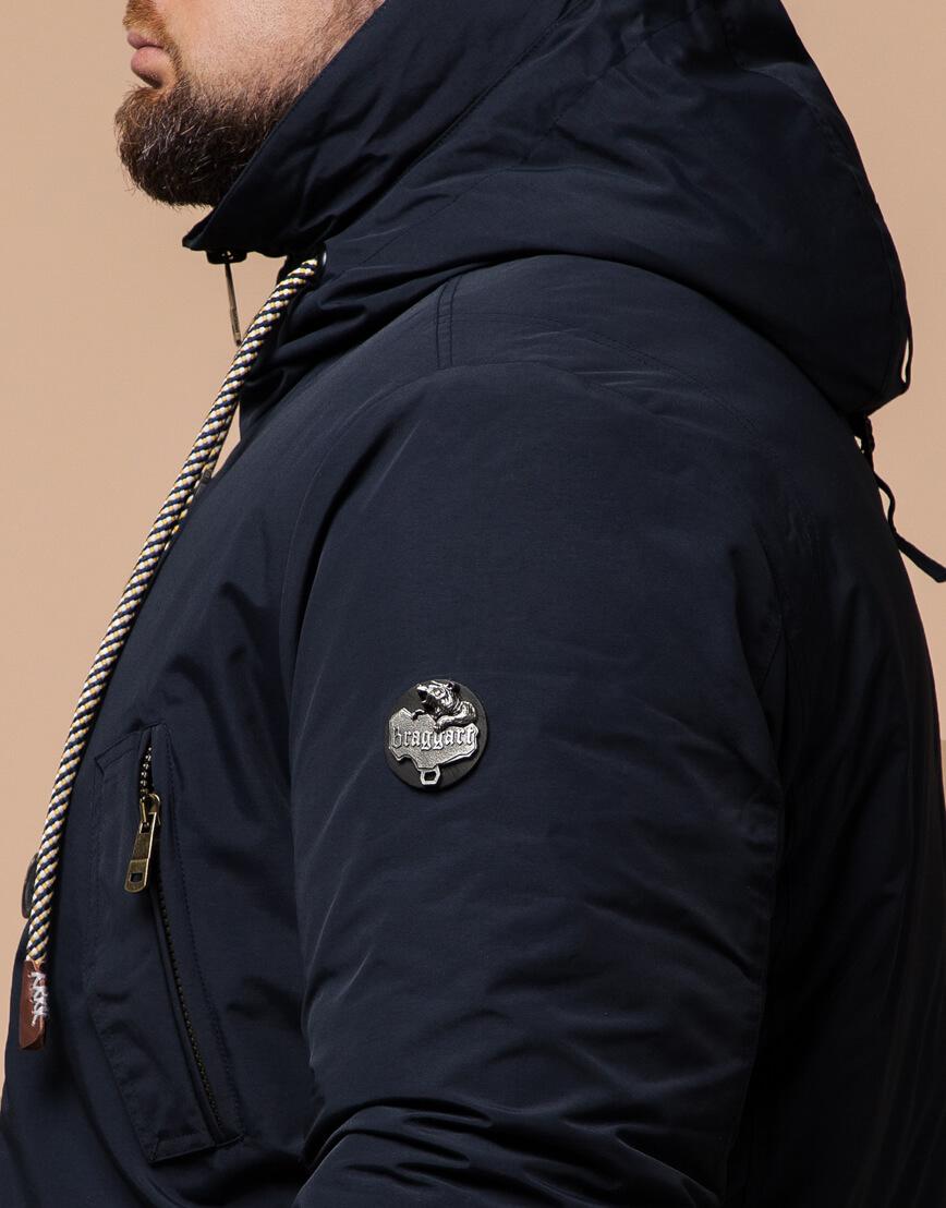 Мужская парка синяя на зиму модель 45950 оптом фото 6