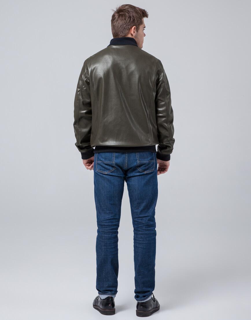 Короткая куртка молодежная цвет хаки модель 2970 фото 4