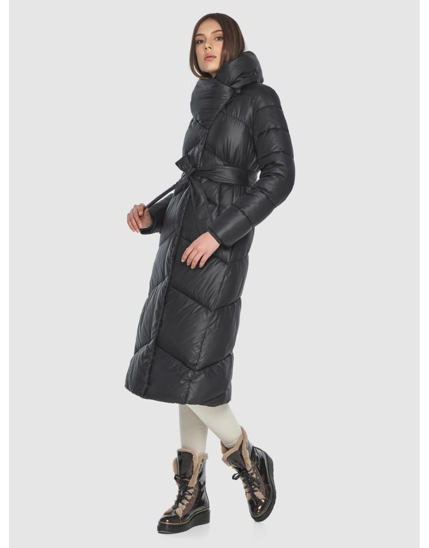 Женская современная куртка Wild Club чёрная 514-35 фото 3