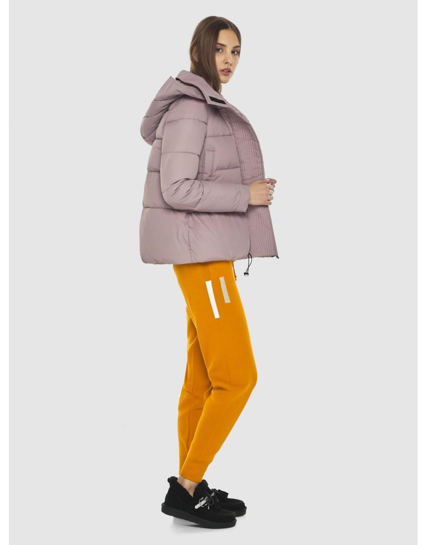 Объёмная женская куртка Vivacana пудровая 9742/21 фото 3