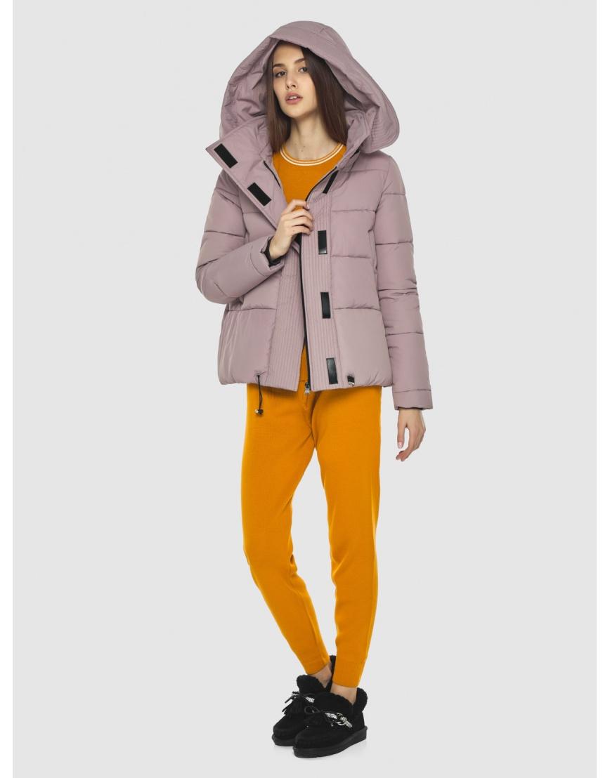 Объёмная женская куртка Vivacana пудровая 9742/21 фото 2