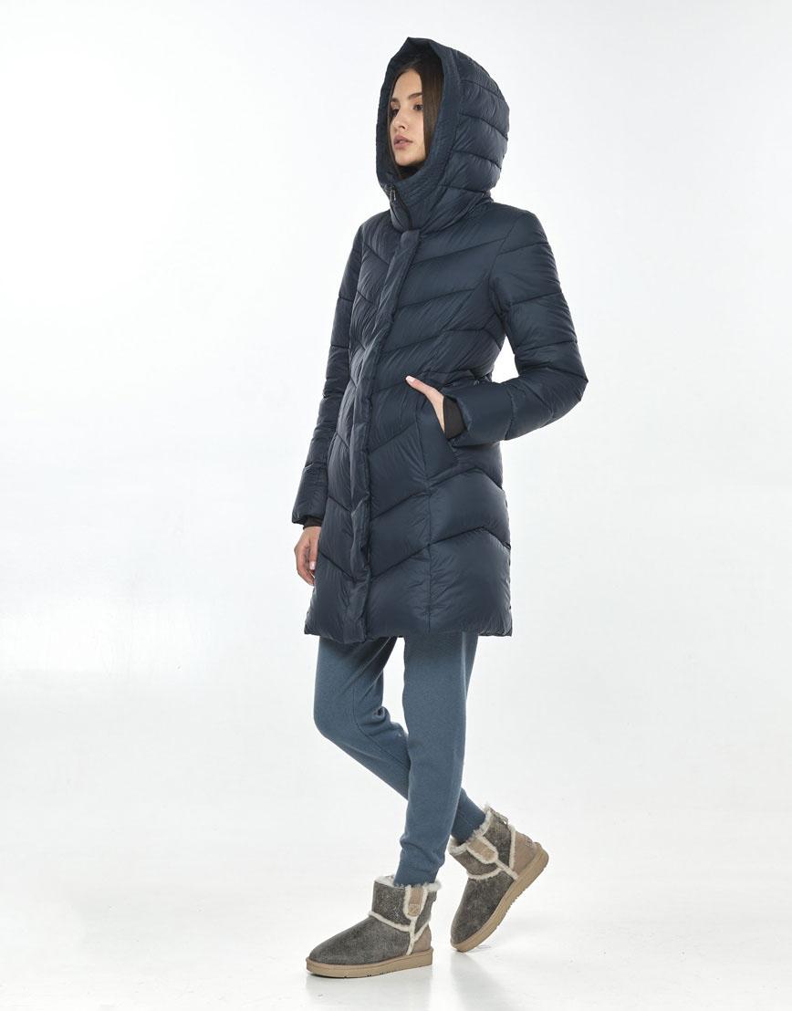 Практичная осенне-весенняя куртка синяя женская Vivacana 7821/21 фото 2