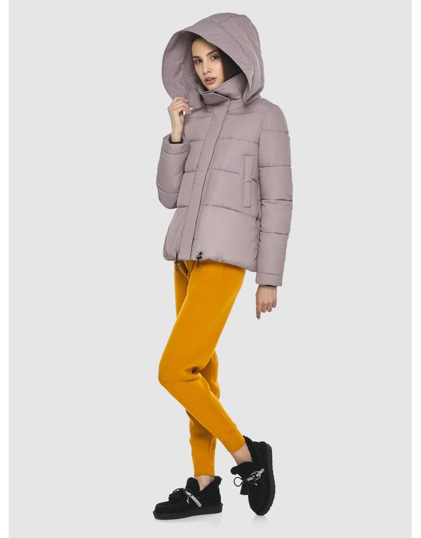 Объёмная женская куртка Vivacana пудровая 9742/21 фото 1