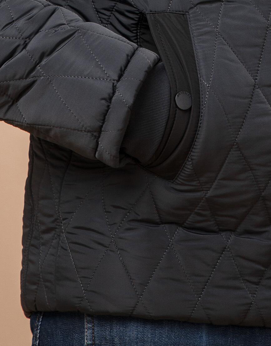 Куртка графитовая зимняя для мужчин модель 30538 оптом
