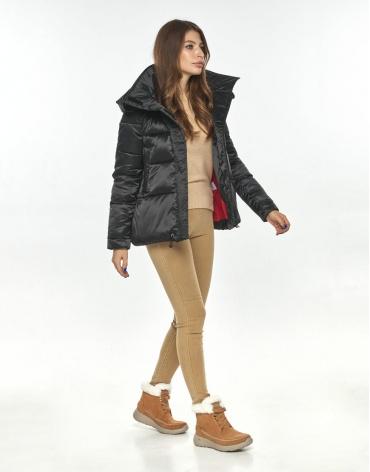 Чёрная удобная куртка женская Ajento осенне-весенняя 23952 фото 1