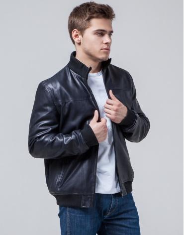 Куртка темно-синяя с манжетами осенне-весенняя модель 2970 фото 1