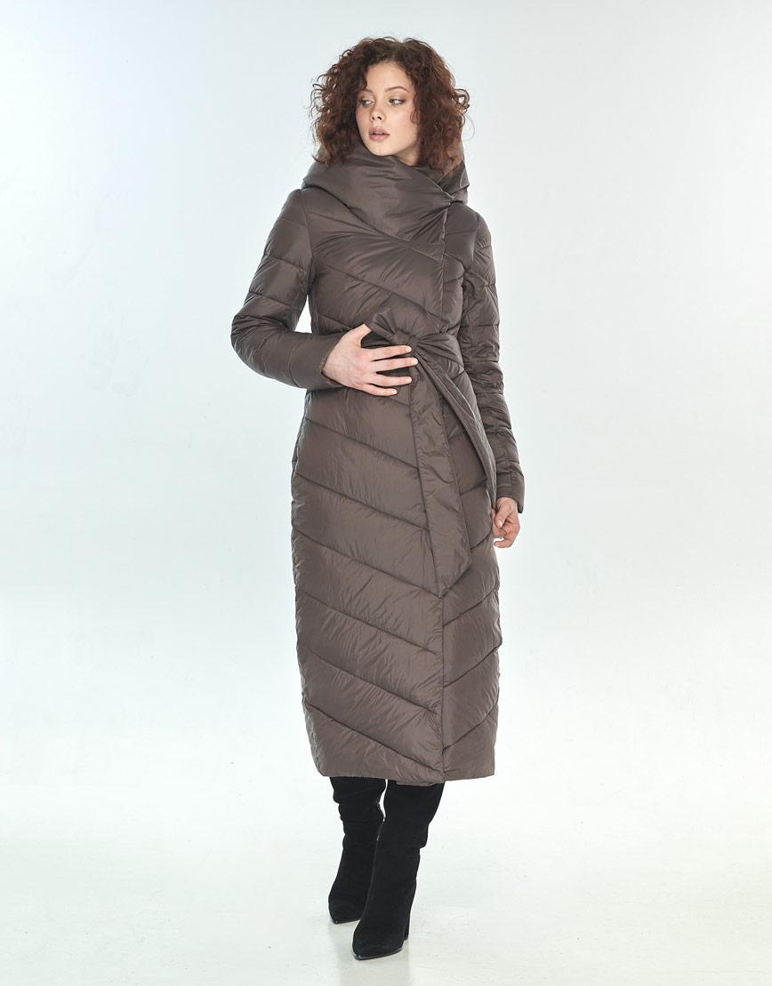 Комфортная капучиновая куртка большого размера женская Moc M6471 фото 2