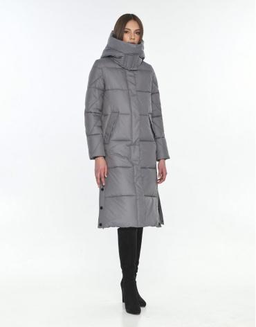 Длинная куртка женская Wild Club серая 534-23 фото 1