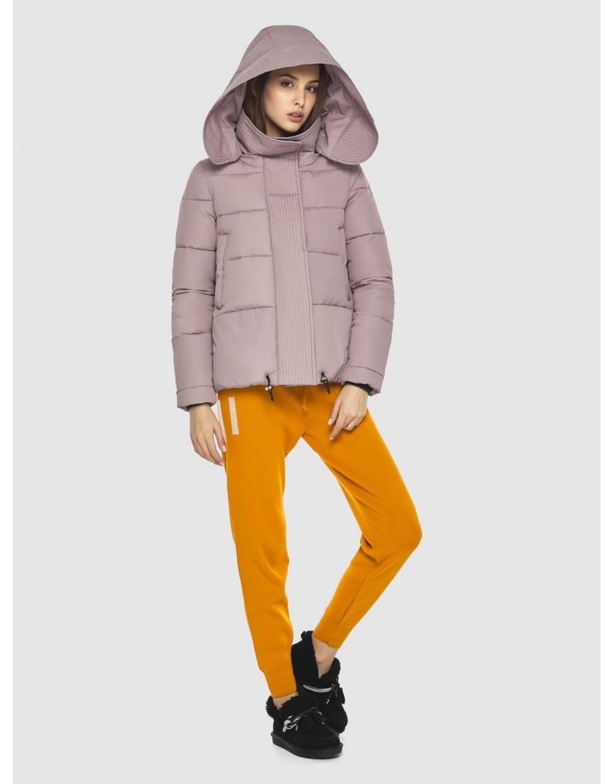 Объёмная женская куртка Vivacana пудровая 9742/21 фото 6