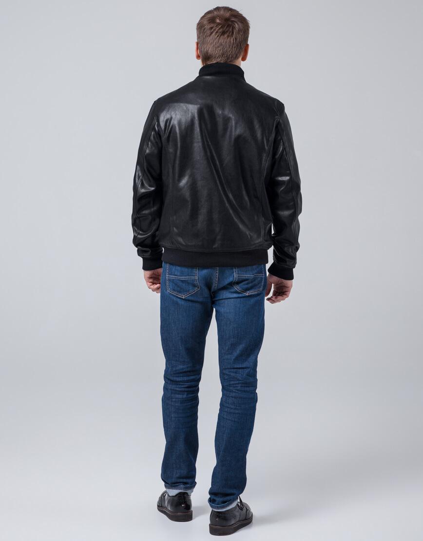 Практичная куртка черная молодежная модель 2970