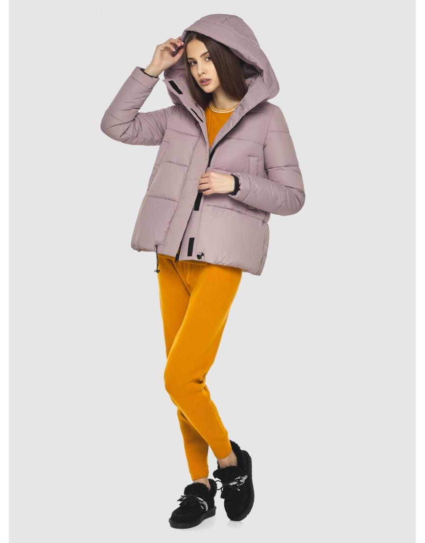 Объёмная женская куртка Vivacana пудровая 9742/21 фото 5