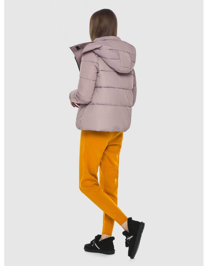 Объёмная женская куртка Vivacana пудровая 9742/21 фото 4