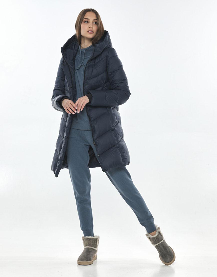 Практичная осенне-весенняя куртка синяя женская Vivacana 7821/21 фото 1