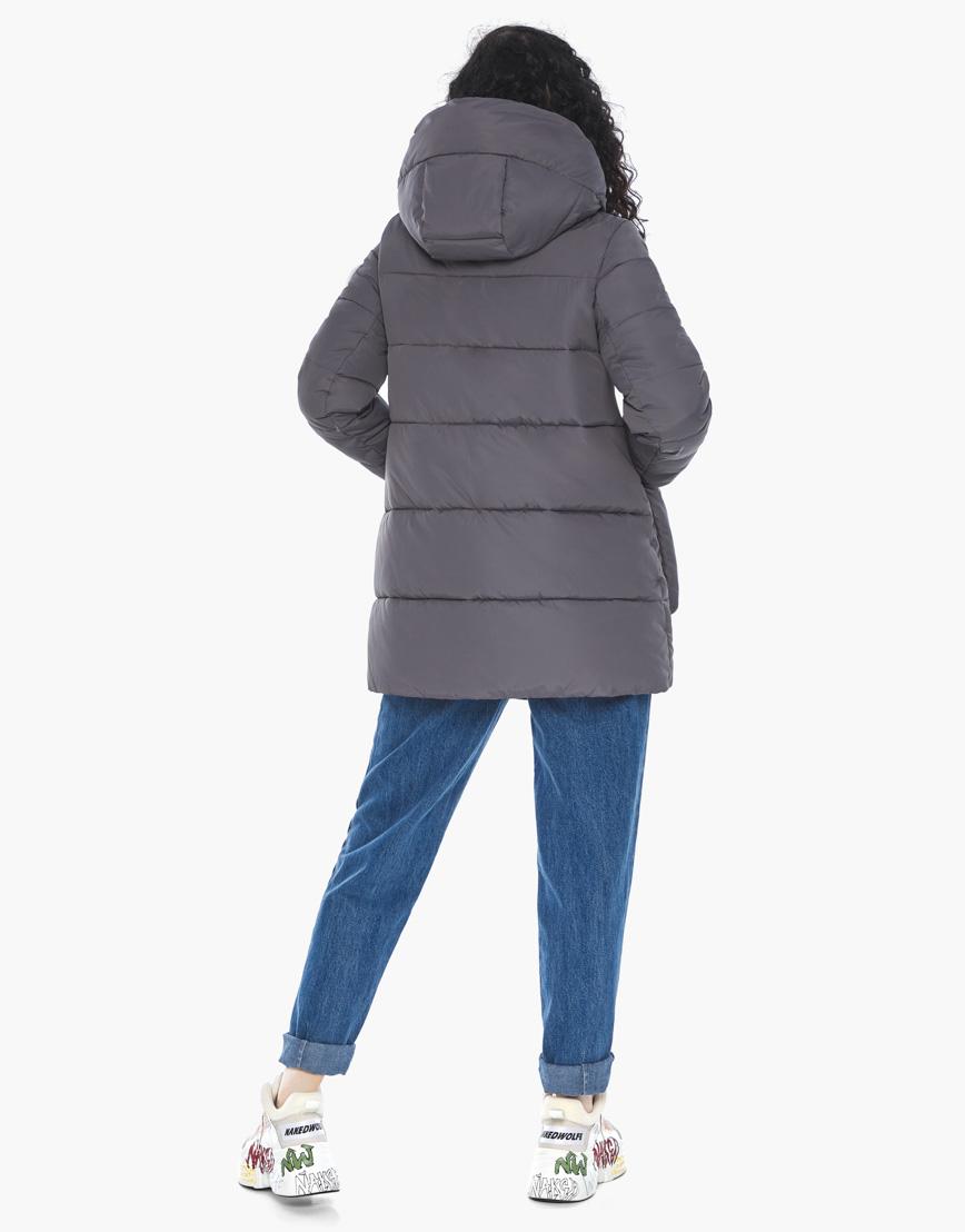 Куртка пуховик Youth молодежный графитовый брендовый женский модель 25680 фото 6