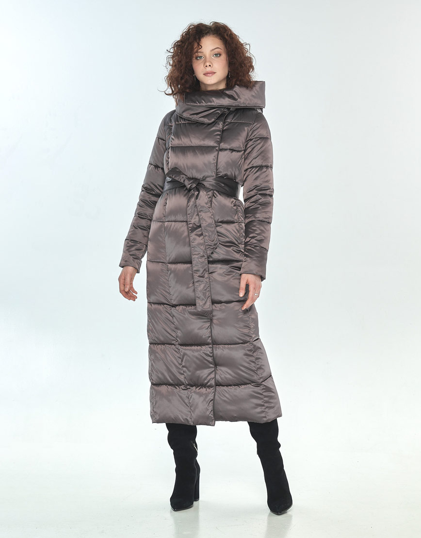 Зимняя куртка капучиновая Moc женская M6321 фото 2