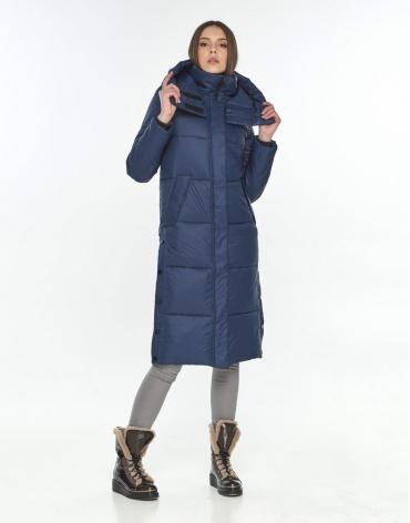 Женская синяя куртка Wild Club модная 534-23 фото 1