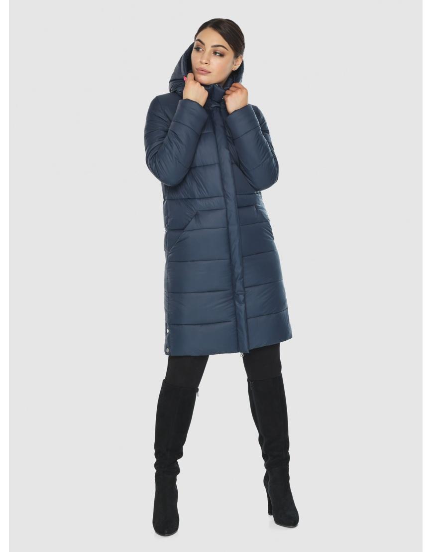 Женская куртка Wild Club комфортная синего цвета 584-52 фото 5