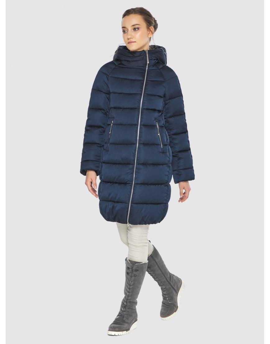 Подростковая зимняя курточка Wild Club средней длины синяя 526-10 фото 6