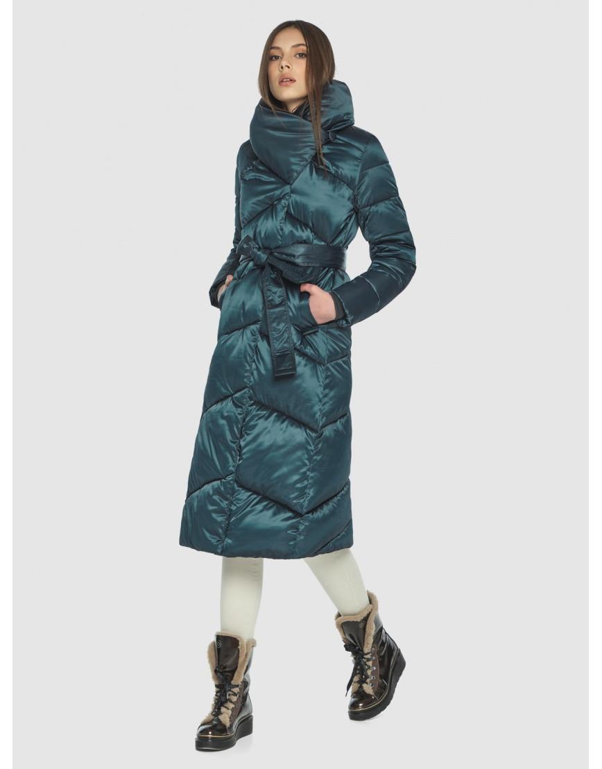 Длинная женская зелёная куртка Wild Club 514-35 фото 1