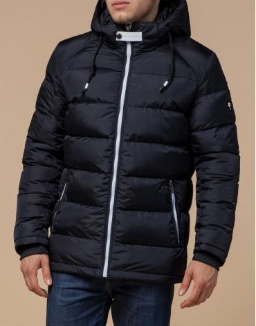Качественная темно-сине-белая куртка мужская модель 10168