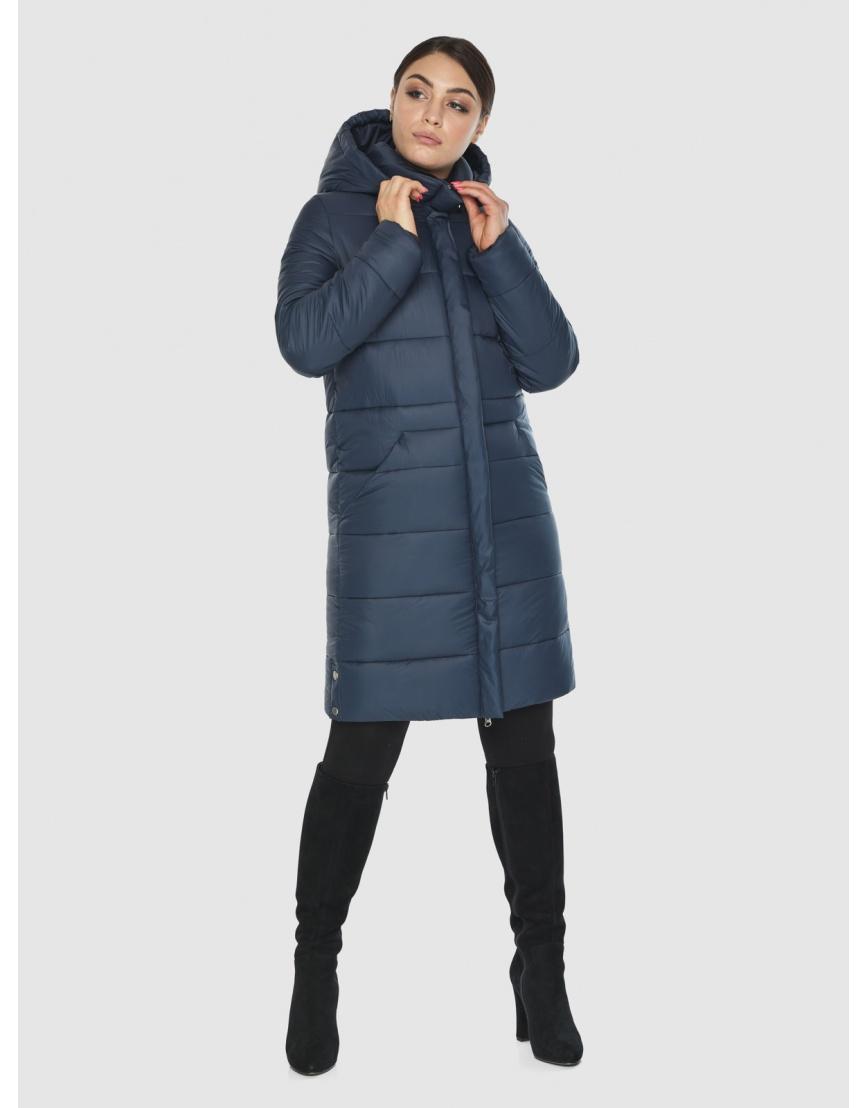Женская куртка Wild Club комфортная синего цвета 584-52 фото 1