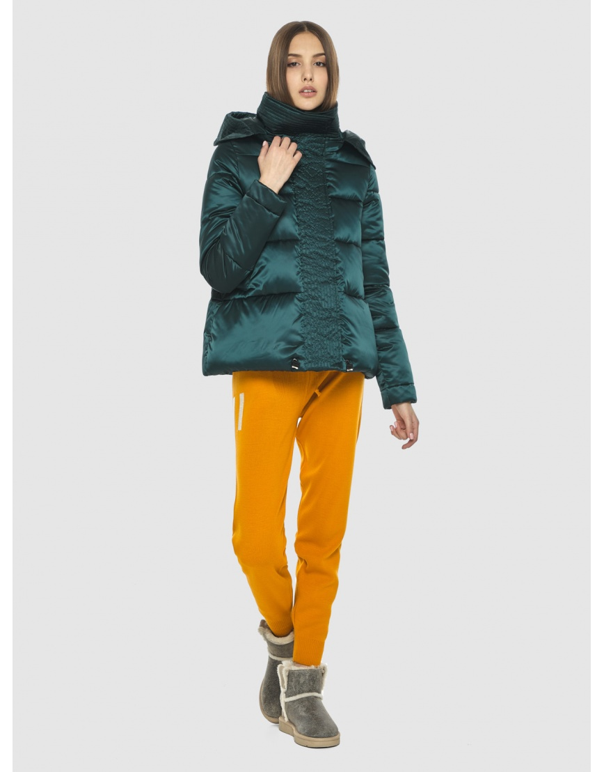 Утеплённая куртка Vivacana женская зелёная 9742/21 фото 2