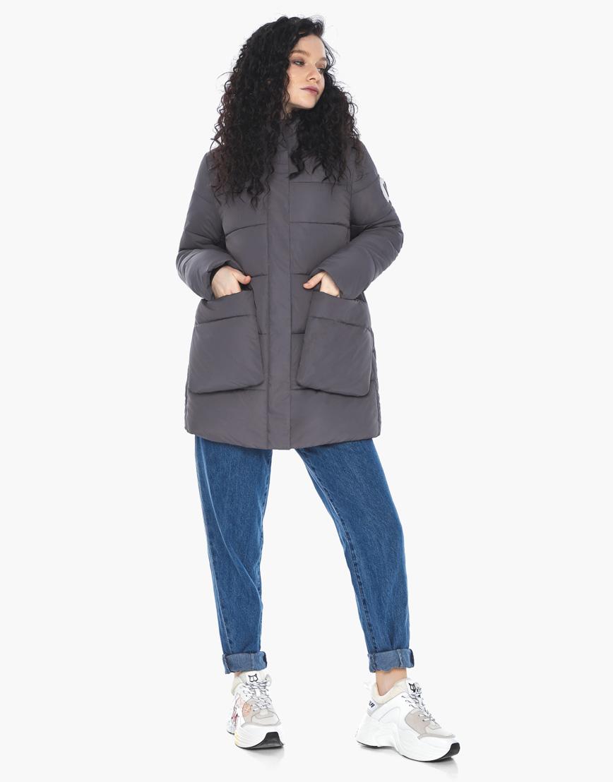 Куртка пуховик Youth молодежный графитовый брендовый женский модель 25680 фото 1