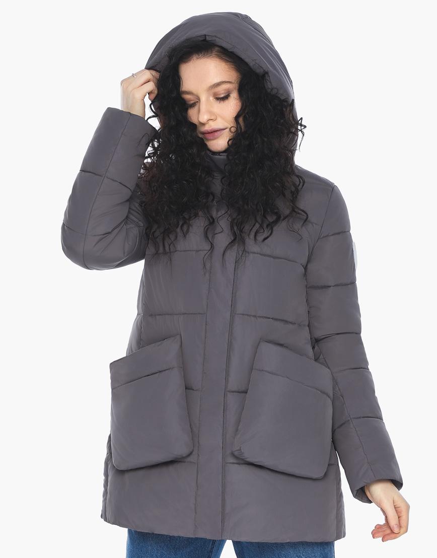 Куртка пуховик Youth молодежный графитовый брендовый женский модель 25680 фото 2