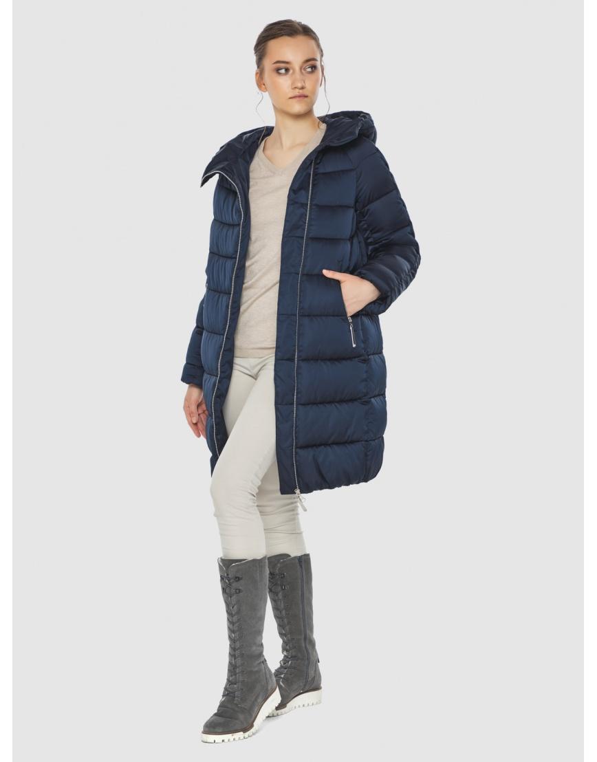 Подростковая зимняя курточка Wild Club средней длины синяя 526-10 фото 5