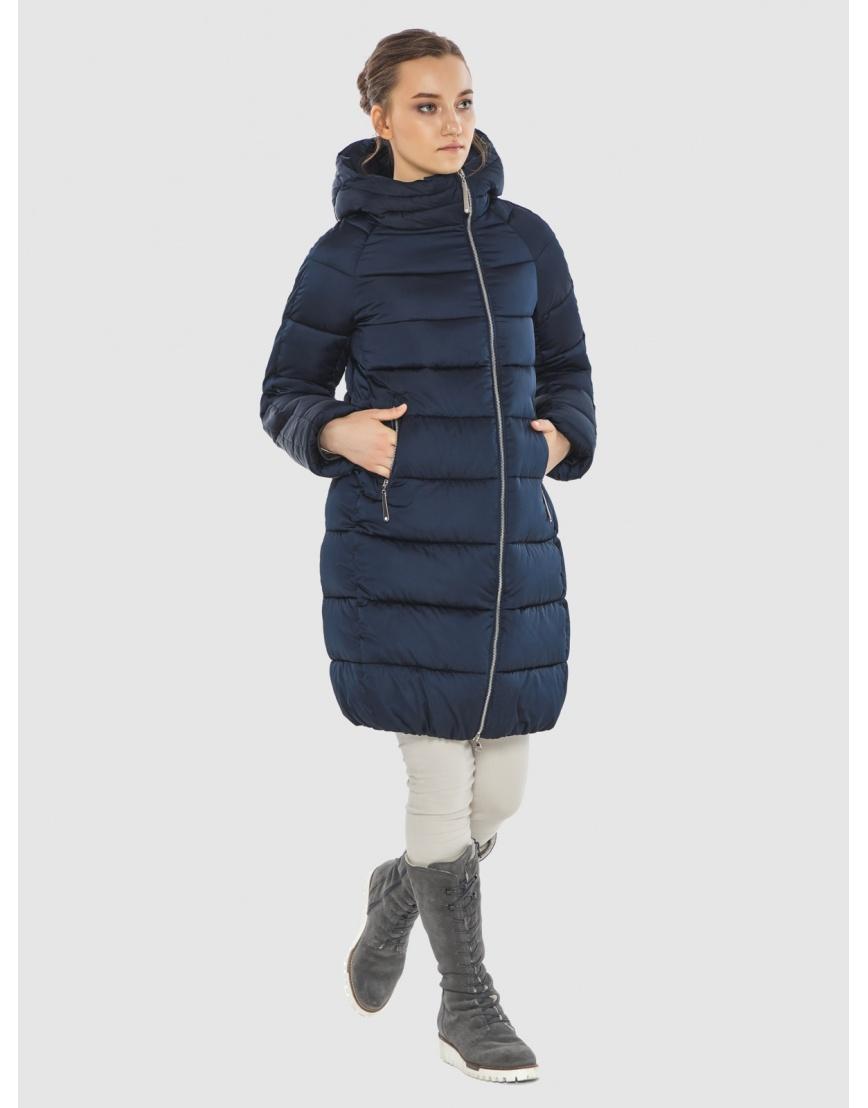 Подростковая зимняя курточка Wild Club средней длины синяя 526-10 фото 3