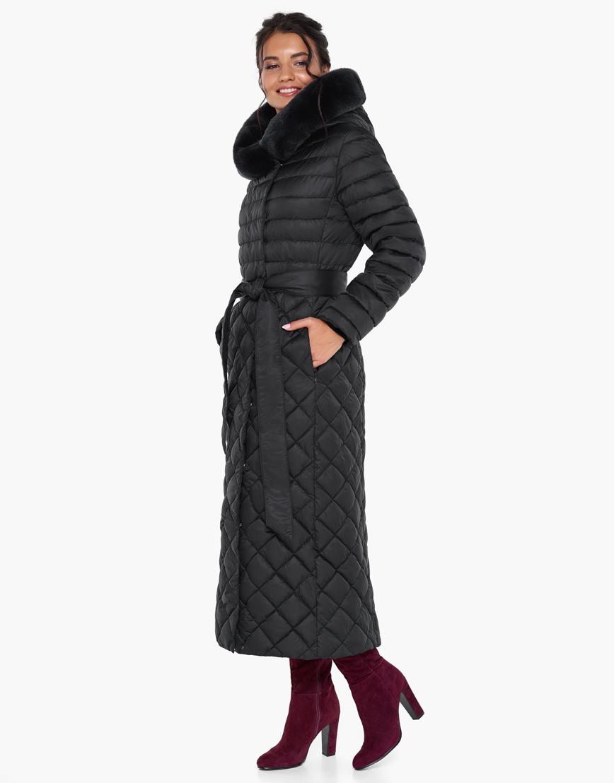 Непромокаемый женский зимний воздуховик Braggart цвет черный модель 31012 фото 2