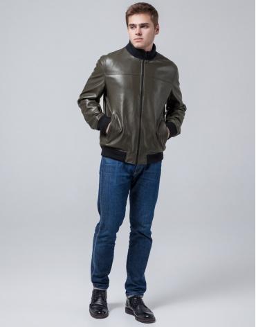 Куртка мужская цвета хаки осенне-весенняя модель 2970 фото 1