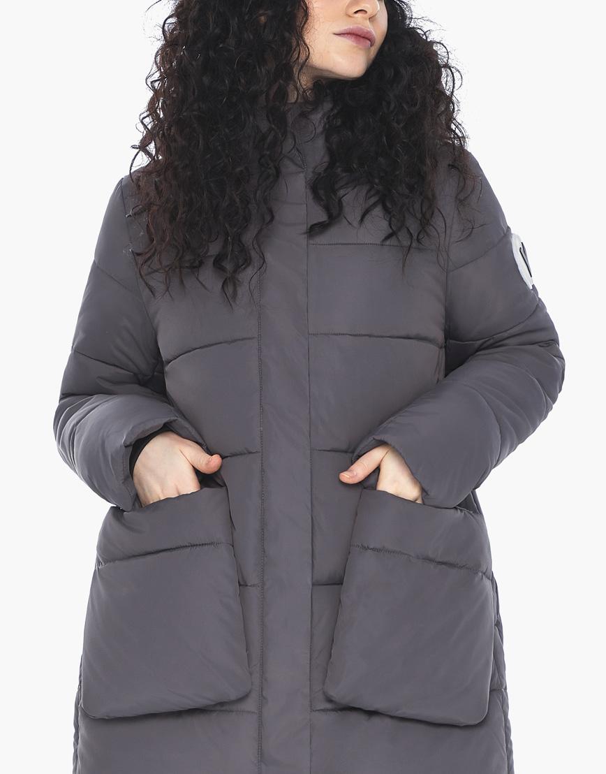 Куртка пуховик Youth молодежный графитовый брендовый женский модель 25680 фото 7