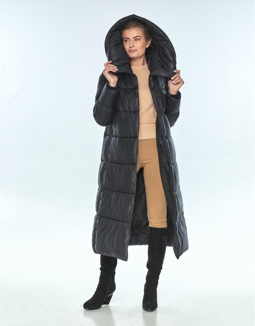 Куртка длинная женская Ajento чёрная 21550 фото 1