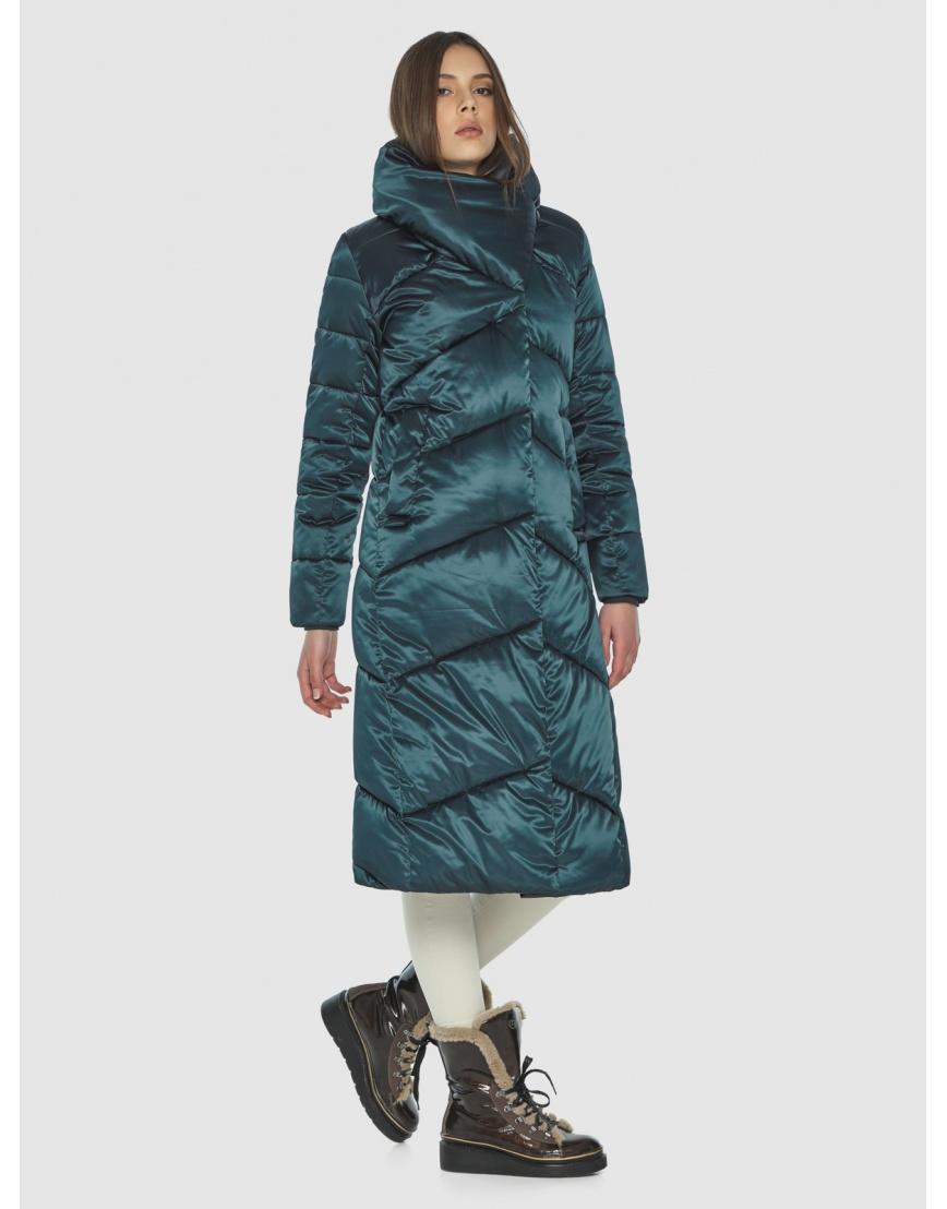 Длинная женская зелёная куртка Wild Club 514-35 фото 3