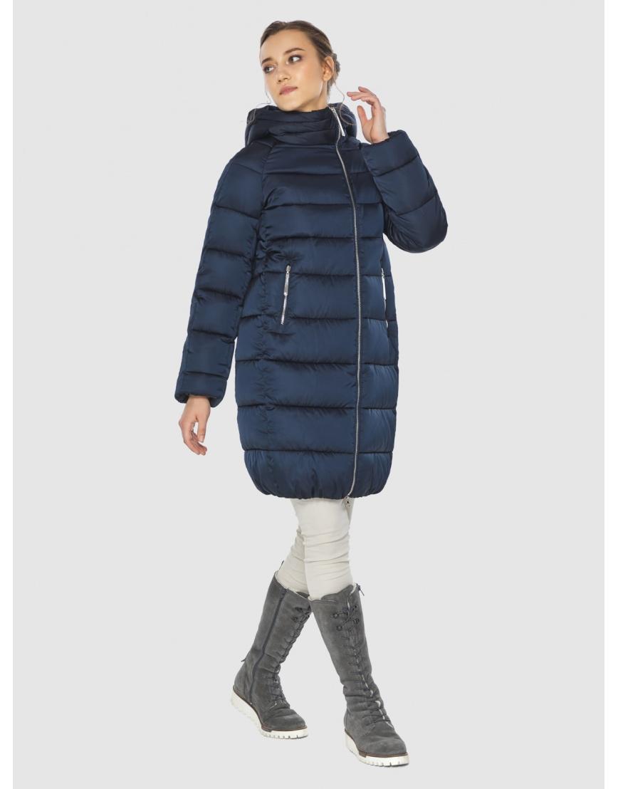 Подростковая зимняя курточка Wild Club средней длины синяя 526-10 фото 1
