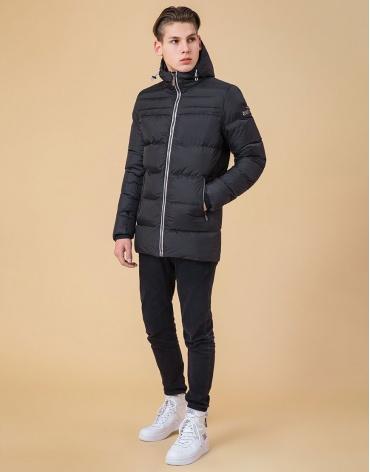 Практичная куртка с капюшоном подростковая цвет графит-серый модель 71293 оптом фото 1