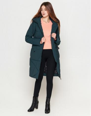 Женская трендовая куртка бирюзового цвета модель 25205