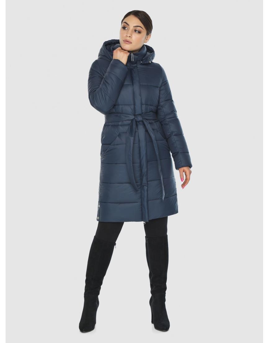 Женская куртка Wild Club комфортная синего цвета 584-52 фото 6