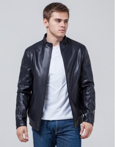 Куртка темно-синего цвета молодежная модель 1588 фото 1